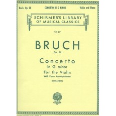 HALLEONARD MAX BRUCH 50253520 CONCERTO IN G MINOR