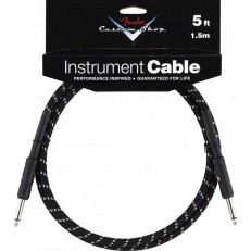 FENDER CUSTOM SHOP PERFORMANCE SERIES CABLE 5' BLACK TWEED
