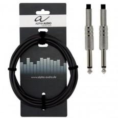 Инструментальный кабель Alpha Audio Basic mono jack x2 (3м) 190000
